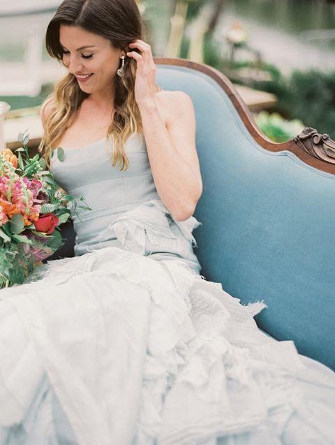Sky Blue Wedding Dress 64 Superb Ruffled Blue Wedding Dress
