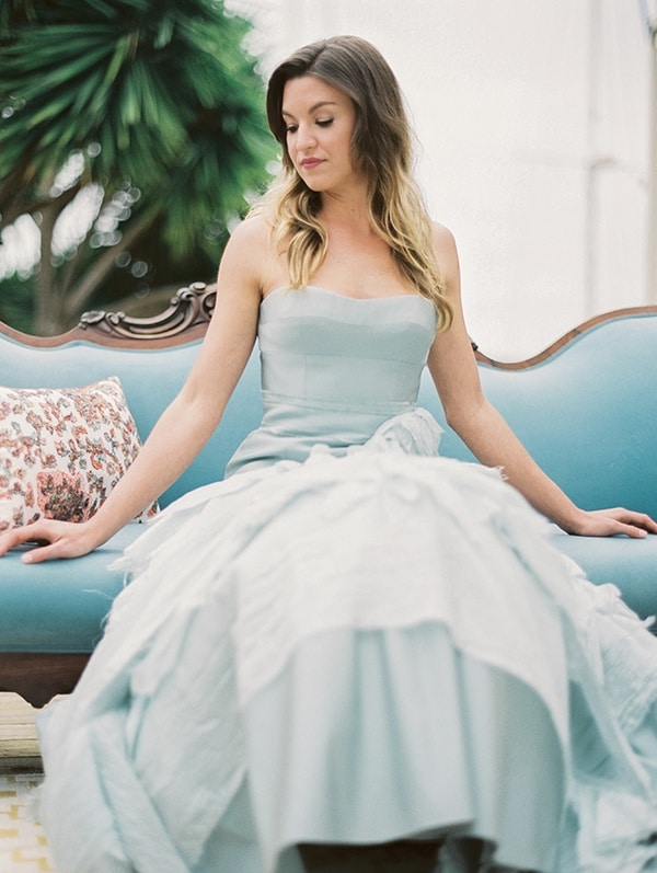 Colorful Nautical Shoot With A Blue Wedding Dress Hey ...