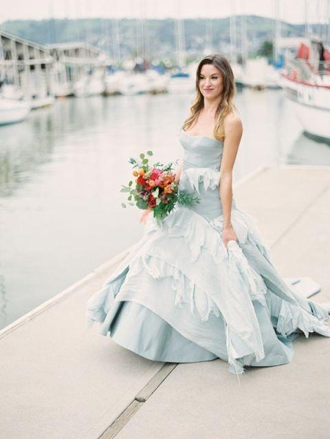 Powder Blue Wedding Dresses 80 Superb Stunning Blue Wedding Dress