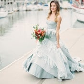 Stunning Blue Wedding Dress | Audrey Norman Fine Art Wedding Photography
