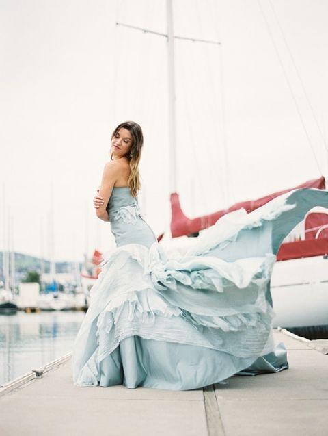 Sky Blue Wedding Dress 66 Good Epic Ruffled Wedding Dress
