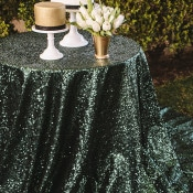 Bronze and Emerald Sparkling Cake Table | Anna Delores Photography | Stripes and Sequins - Preppy Kate