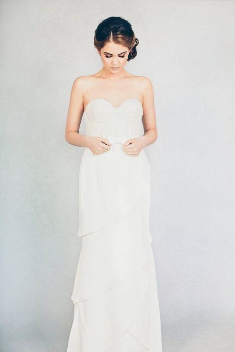 Farrah Wedding Dress 3 Superb Farrah Asymmetric Tiered Wedding