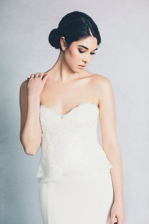 Farrah Wedding Dress 91 Ideal Hannah Lace Peplum Wedding