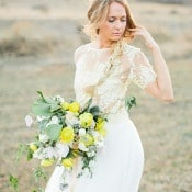 Loose Side Braid and a Yellow Bouquet | Callie Hobbs Photography | Bohemian Desert Wedding Shoot in Colorado