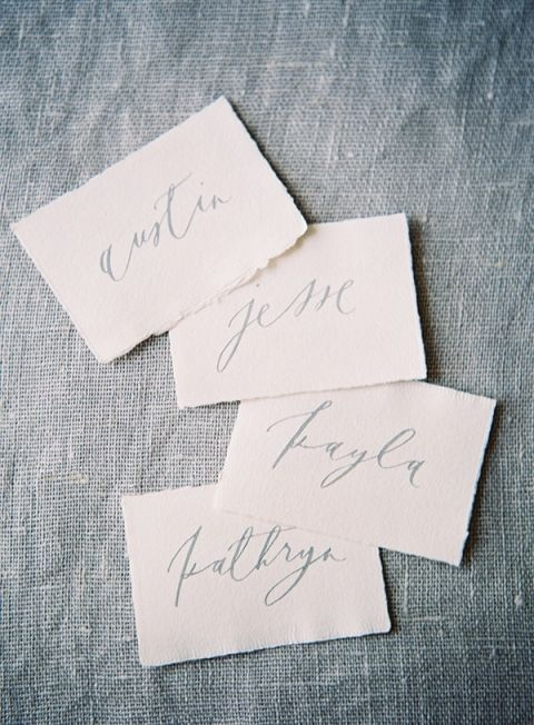 Hand Lettered Escort Cards