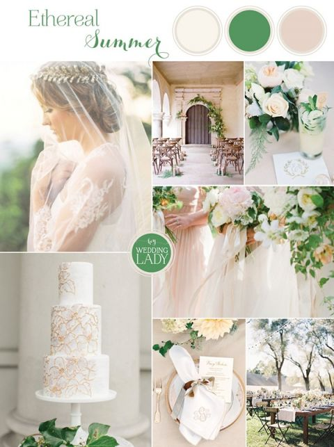Ethereal Neutral Wedding Ideas For Summer In Ivory And Gold With Clic Monogram Laurel Wreath