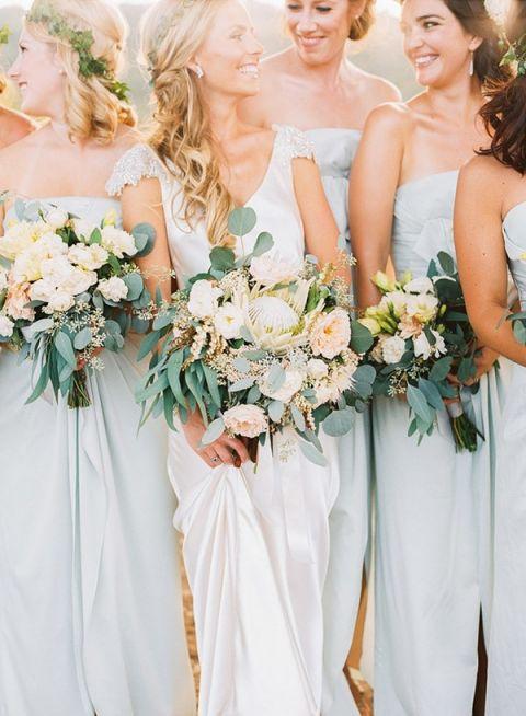 Powder Blue Wedding Dresses 88 Inspirational Bridesmaids in Dusty Blue