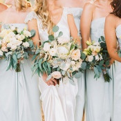 Bridesmaids in Powder Blue | Danielle Poff Photography | Natural Elegance at a Southern California Vineyard