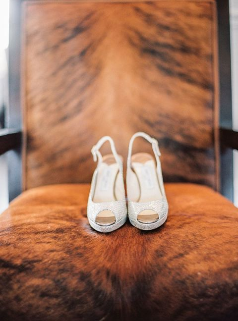 Sparkling Peep Toe Wedding Shoes