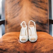 Sparkling Peep Toe Wedding Shoes | Danielle Poff Photography | Natural Elegance at a Southern California Vineyard
