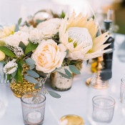 White Protea Centerpiece | Danielle Poff Photography | Natural Elegance at a Southern California Vineyard