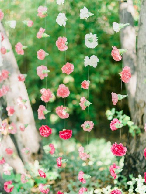 Coral Wedding Ideas 79 Superb Ombre Carnation Hanging Backdrop