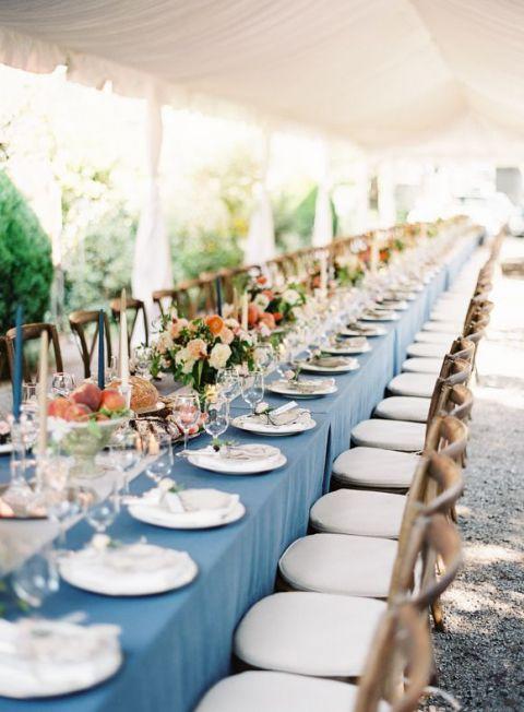 Coral Wedding Ideas 59 Fancy Elegant Long Tables for