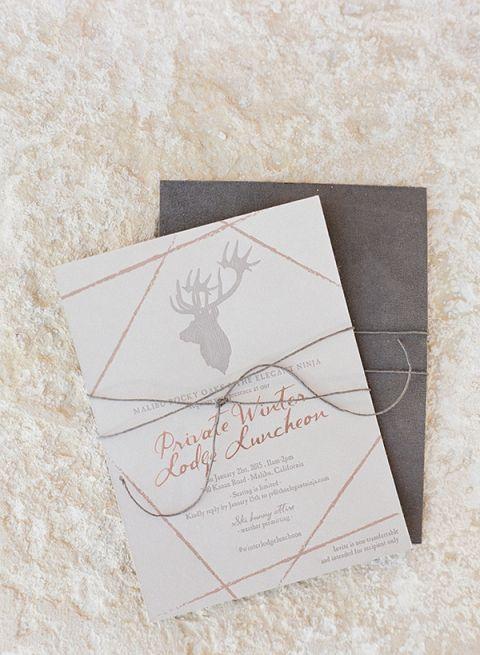 Antler Design Invitation | Diana McGregor Photography | Luxurious Autumn Feast at a Malibu Winery