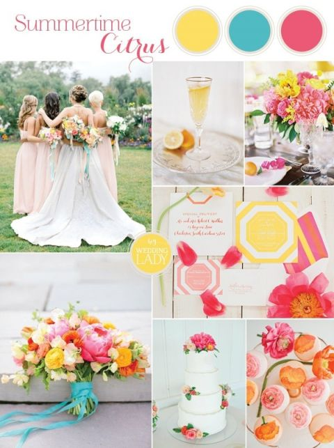 Bright and Colorful Preppy Summer Wedding