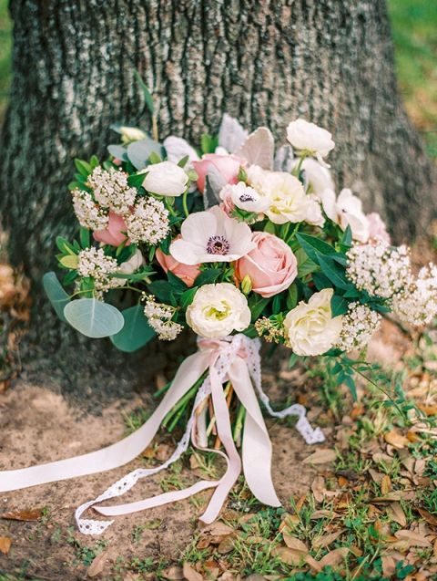 Lush Pink Spring Bouquet | Dana Fernandez Photography | The Most Romantic Styled Proposal in Blush and Gold