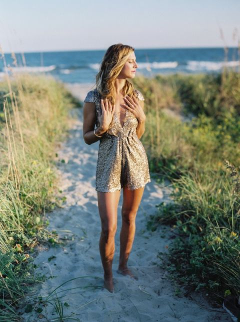 Champagne Sequin Romper | JoPhoto Photography | Refreshing Summer Wedding Ideas