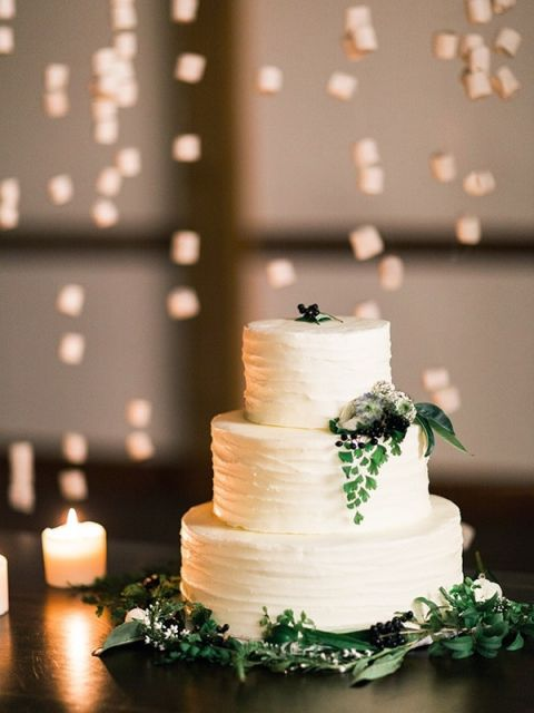 Candlelight Winter Wedding Ideas In Green And White Hey