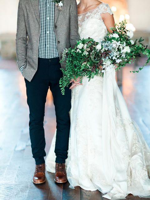 Candlelight Winter Wedding Ideas in Green and White Hey Wedding Lady