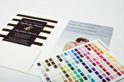 Color Match Custom Wedding Invitations | Styling Wedding Stationery with Basic Invite