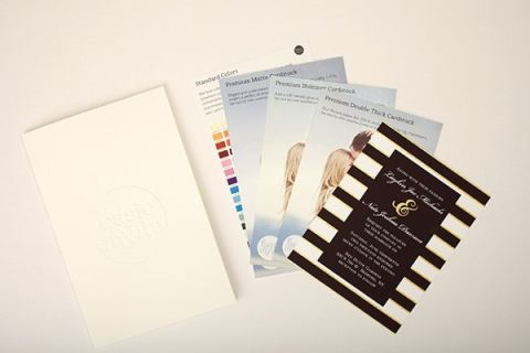 Custom Sample of Wedding Invtiations | Styling Wedding Stationery with Basic Invite