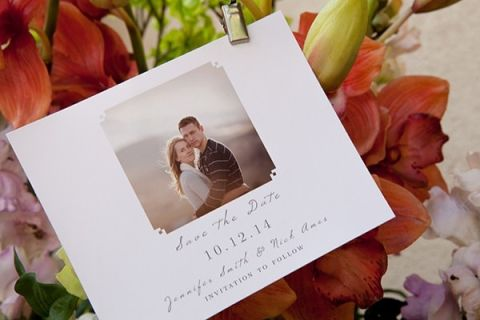 Engagement Portrait Save the Date | Styling Wedding Stationery with Basic Invite