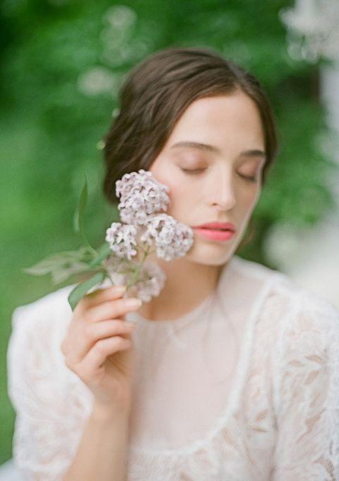 Fresh Spring Lilacs | Warmphoto | Sleeping Beauty - An Enchanted Bridal Morning