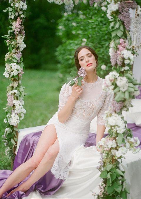 Lace and Lilacs | Warmphoto | Sleeping Beauty - An Enchanted Bridal Morning