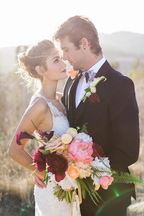 Luxe Bohemian Wedding In Jewel Tones Hey Wedding Lady