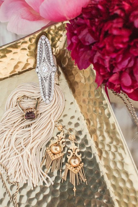 Gold and Gemstone Jewelry for a Boho Glam Wedding