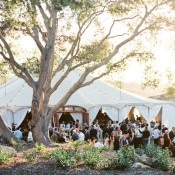 Elegant Tented Wedding Reception | Danielle Poff Photography | Effortlessly Chic Sparkling Neutral Wedding