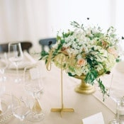 Gold Calligraphy Table Numbers   Danielle Poff Photography   Effortlessly Chic Sparkling Neutral Wedding