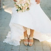 Metallic Wedding Shoes | Danielle Poff Photography | Effortlessly Chic Sparkling Neutral Wedding
