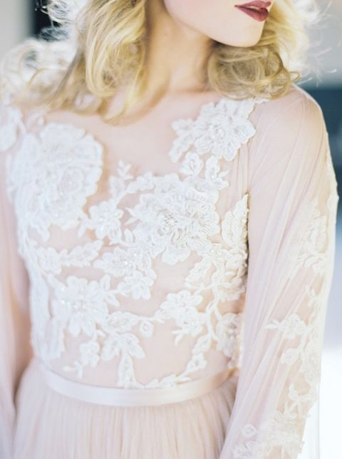 Romantic Vintage Wedding Dresses 57 Cool Blush Floral Lace Wedding