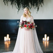 Dramatic Lace Wedding Dress with a Cape | Maria Lamb Photography | Vintage Romance Wedding