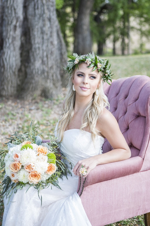 Whimsical Pastel Bride | Shelly Taylor Photography | Southern Peach Wedding