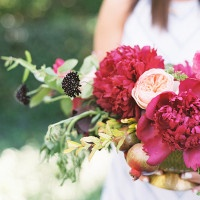 Peonies and Champagne Wedding Inspiration
