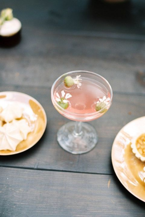 Blush Floral Cocktail | Megan Robinson Photography | Fine Art Fairy Tale Wedding