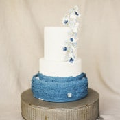 Blue and White Floral Wedding Cake | Krista A. Jones Fine Art Photography | Artistic French Blue Wedding