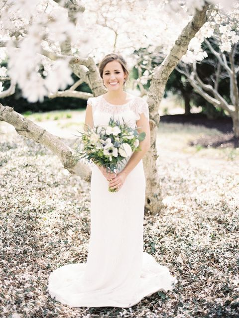 Ethereal Bride in a Blooming Cherry Orchard | Krista A. Jones Fine Art Photography | Artistic French Blue Wedding