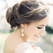 Elegant Bridal Updo and Statement Earrings | Krista A. Jones Fine Art Photography | Artistic French Blue Wedding