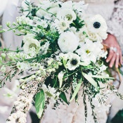 Natural Green and White Bouquet | Amazonas Photography | Bohemian Forest Wedding