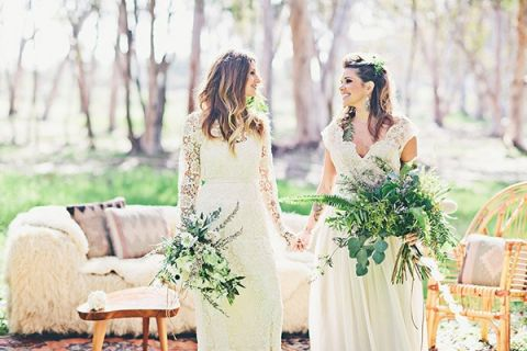Beautiful Brides in Unique Lace Wedding Dresses | Amazonas Photography | Bohemian Forest Wedding