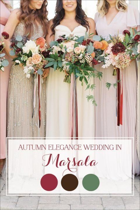 Elegant Natural Fall Wedding in Marsala | Hey Wedding Lady