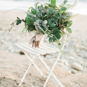 Wild Coastal Greens Bouquet | Luna de Mare Photography | Glam Beach Bride