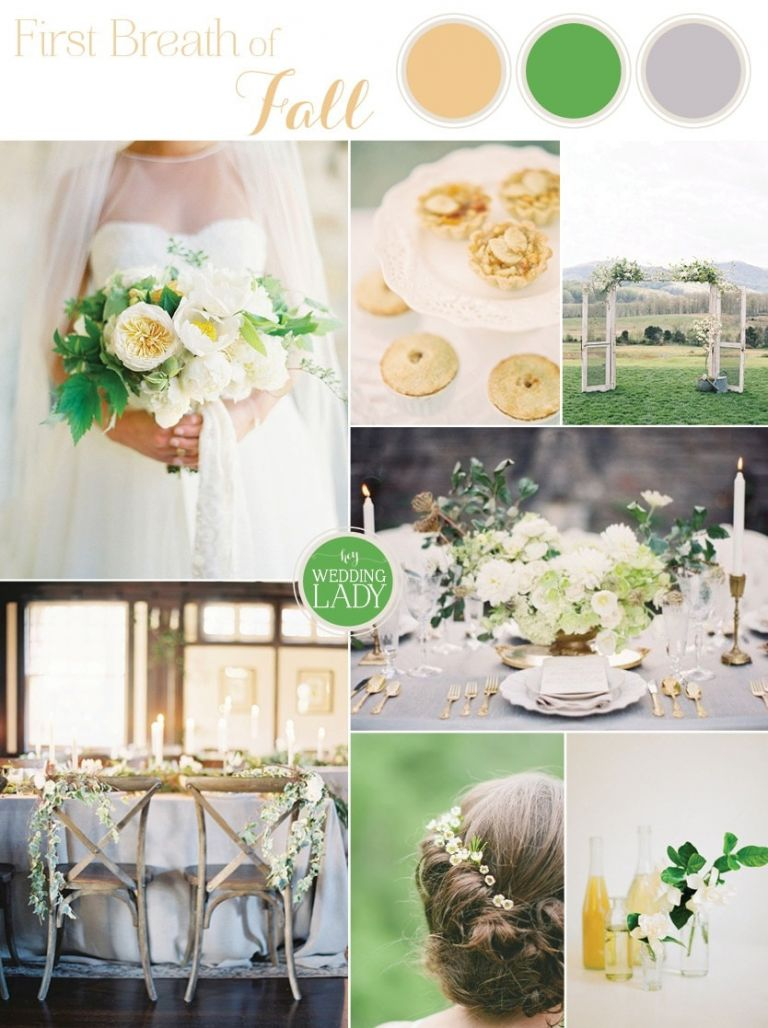 Fresh Wedding Palette in Yellow and Green for the First Hint of Fall