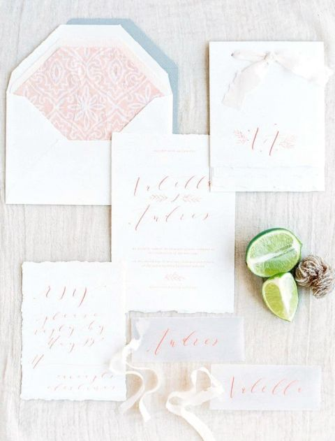 Patterned Wedding Invitation   Sally Pinera Photography   Marbled Wedding in Silver, Burgundy, and Blush