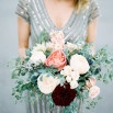 Marbled Wedding in Silver, Burgundy, and Blush