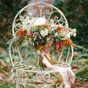 Fall Foliage Bouquet | Archetype Studio | Autumn Woodland Wedding at a Country Manor